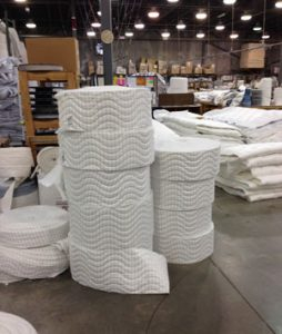 mattress fabric in factory